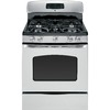 GE 30-in 5-Burner Freestanding 5 cu ft Convection Gas Range (Stainless Steel)