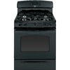 GE 30-in 5-Burner Freestanding 5 cu ft Convection Gas Range (Black)