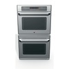 GE Cafe 30-in Convection Single-Fan Double Electric Wall Oven (Stainless)