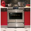 GE Cafe 5-Burner Self-Cleaning Convection Single Oven Dual Fuel Range (Stainless Steel) (Common: 30-in; Actual 30-in)