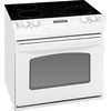 GE 30-in Smooth Surface 4.4 cu ft Self-Cleaning Drop-In Electric Range (White)