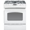 GE 30-in 4.1 cu ft Self-Cleaning Slide-In Gas Range (White)