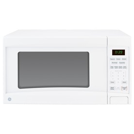GE 1.1 cu ft 1100-Watt Countertop Microwave (White)