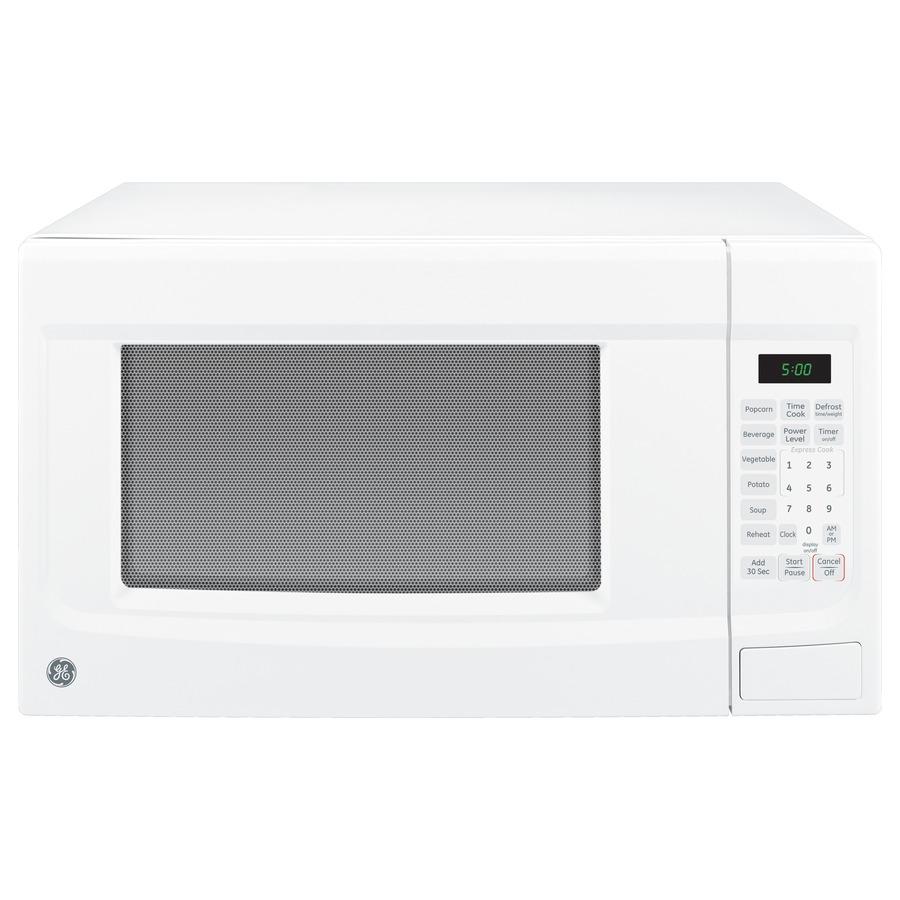 Shop GE 1.4-cu ft 1,100-Watt Countertop Microwave (White) at Lowes.com