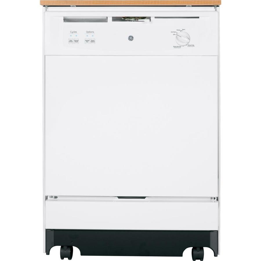 Portable Dishwashers At Lowe S : Shop ge in decibel portable dishwasher with hard