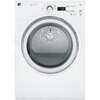 GE 7 cu ft Reversible Side Swing Gas Dryer (White)