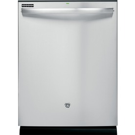 GE 48-Decibel Built-In Dishwasher with Hard Food Disposer (Stainless Steel) (Common: 24-in; Actual 23.75-in) ENERGY STAR