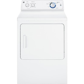 GE 6 cu ft Gas Dryer (White)