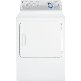 GE 7-cu ft Gas Dryer (White)