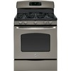 GE 30-in 5-Burner Freestanding 5 cu ft Convection Gas Range (Slate)