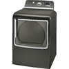 GE 7.8-cu ft Gas Dryer with Steam Cycles (Metallic Carbon)