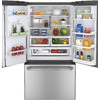 GE Cafe 28.6-cu ft French Door Refrigerator with Single Ice Maker (Stainless Steel) ENERGY STAR
