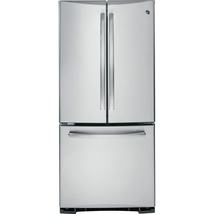 shop ge profile 19 5 cu ft french door refrigerator with