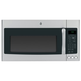 GE 1.9-cu ft Over-The-Range Microwave with Sensor Cooking Controls (Stainless Steel/Black) (Common: 30-in; Actual: 29.75-in)