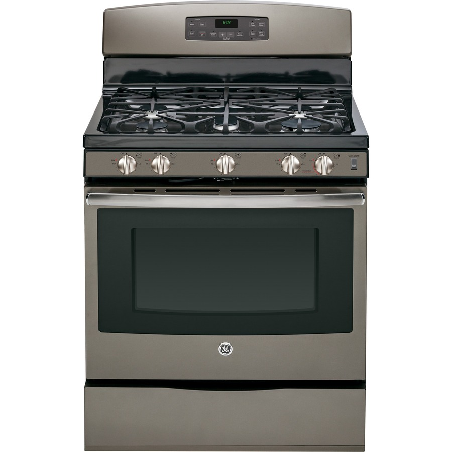 Shop Ge 5 Burner Freestanding 5 Cu Ft Self Cleaning With