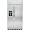 GE Profile Series Profile 28.6-cu ft Built-in Side-By-Side Refrigerator with Single Ice Maker (Stainless Steel)