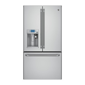 Ge Refrigerator With Keurig Coffee Maker Lowe S : Shop GE Cafe with Keurig K-Cup Brewing System 27.8-cu ft French Door Refrigerator with Single ...
