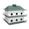 Heath 21.5-in H x 21.5-in W x 7.25-in D White/Green Bird House