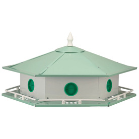Heath 19-in H x 19-in W x 17-in D White Bird House