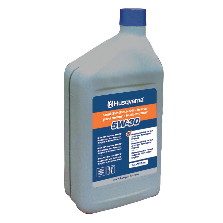 Shop husqvarna 32 oz 4 cycle 5w 30 synthetic blend engine for Top rated motor oil synthetic