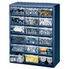 Stack-On 18-Drawer Blue Plastic
