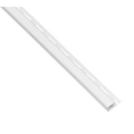 0.625-in x 150-in White J-Channel Vinyl Siding Trim