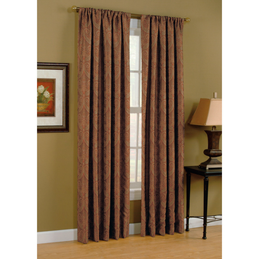 ... Selections Raja 84-in L Paprika Rod Pocket Curtain Panel at Lowes.com