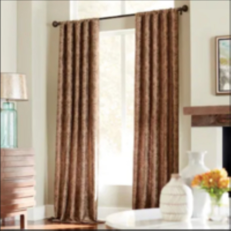 ... allen + roth Raja 95-in L Mocha Rod Pocket Curtain Panel at Lowes.com