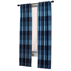 allen + roth Emilia 95-in Blue Polyester Back Tab Single Curtain Panel
