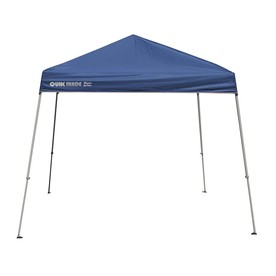 Quik Shade Quik Shade 10-ft W x 10-ft L Square Blue with Gray Frame Steel Pop-Up Canopy