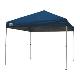 Garden Treasures 8-ft W x 10-ft L Retangular Blue Steel Pop-Up Canopy
