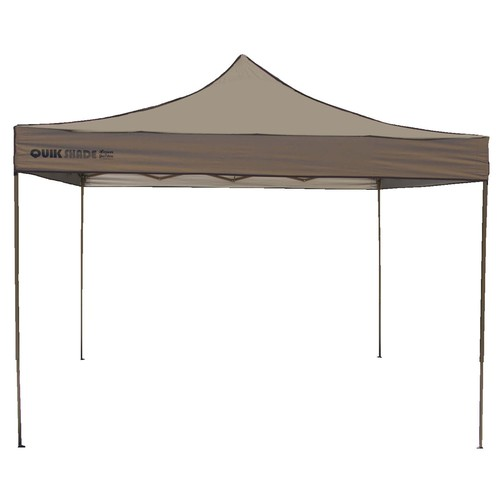 Backyard Canopy Lowes : Quik Shade Quik Shade 10ft W x 10ft L Square Tan with Brown Frame