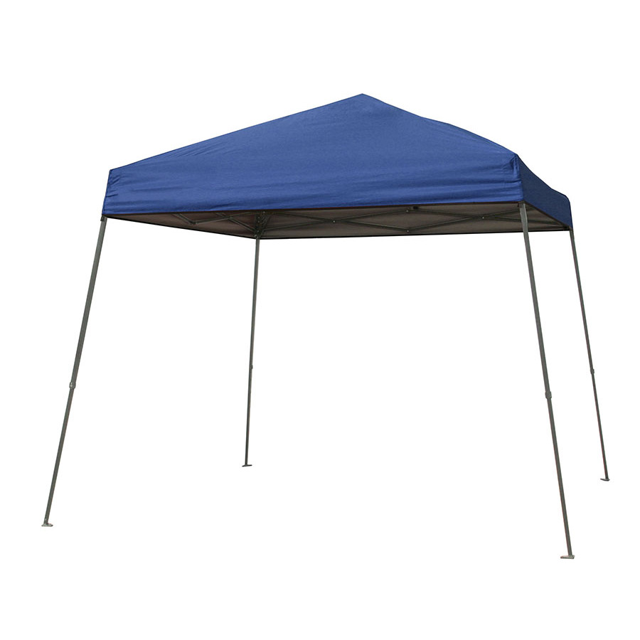 Backyard Canopy Lowes : Garden Treasures 10ft W x 10ft L Square Blue Steel PopUp Canopy