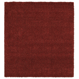 Mohawk Home Perry Shag 8-ft x 8-ft Square Red Transitional Area Rug