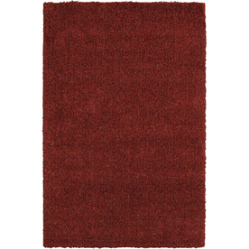 Mohawk Home Perry Shag Red Red Rectangular Indoor Tufted Area Rug (Common: 8 x 10; Actual: 96-in W x 120-in L x 0.5-ft Dia)