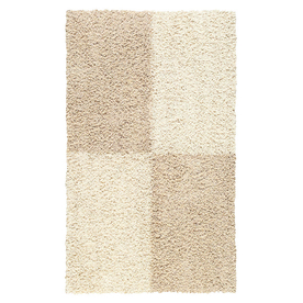 Mohawk Home Four Squares 24-in x 40-in Rectangular Beige Accent Rug