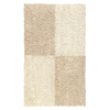 Mohawk Home Four Squares White Rectangular Indoor Tufted Throw Rug (Common: 2 x 4; Actual: 24-in W x 42-in L x 0.5-ft Dia)