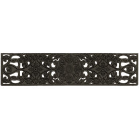Mohawk Home Black Rectangular Stair Tread Mat (Common: 9-in x 35-in; Actual: 9-in x 35-in)