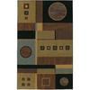 Mohawk Home Montgomery Geometric 5-ft x 8-ft Rectangular Tan Geometric Area Rug