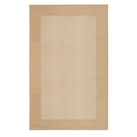 Mohawk Home Field Kingsgold Ivory Rectangular Indoor Tufted Area Rug (Common: 5 x 7; Actual: 60-in W x 84-in L x 0.5-ft Dia)