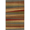 Mohawk Home Hourglass Wave 5-ft x 8-ft Rectangular Red Transitional Area Rug