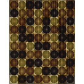 Mohawk Home Alpine Circles Earth 8-ft x 10-ft Rectangular Tan Transitional Area Rug