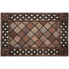 "Style Selections 23"" x 35"" Gothic Lattice Brown Door Mat"