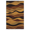 Mohawk Home Earthen Waves 5-ft x 8-ft Rectangular Tan Transitional Area Rug