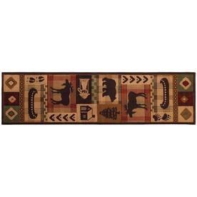 Mohawk Home Westland Dark Brown Rectangular Indoor Woven Runner (Common: 2 x 8; Actual: 25-in W x 94-in L)