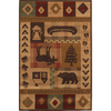 Mohawk Home Westland Lt Dark Brown 63-in x 94-in Rectangular Brown/Tan Transitional Area Rug