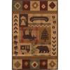 Mohawk Home Westland Lt Dark Brown Rectangular Indoor Woven Area Rug (Common: 5 x 8; Actual: 63-in W x 94-in L)