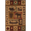 Mohawk Home Westland Lt Dark Brown 96-in x 132-in Rectangular Brown/Tan Transitional Area Rug