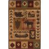 Mohawk Home Westland Lt Dark Brown Rectangular Indoor Woven Area Rug (Common: 8 x 11; Actual: 96-in W x 132-in L)