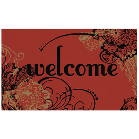"Mohawk Home 18"" x 30"" Graphic Paisley Welcome Red Door Mat"